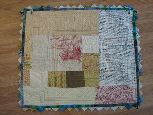 linen,velvet,cotton for the back