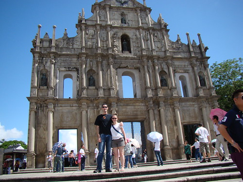 Me and Jen in Front of the Ruins of the Sao Paulo Cathetral