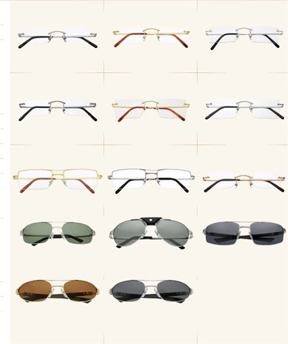 a collection of 9 Cartier sunglasses and 16 Cartier prescriptions wear