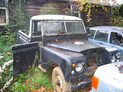 Land Rover series 2a (fryske) Tags: abandoned broken weeds junk rust rusty junkyard scrapyard resting landrover scrap derelict