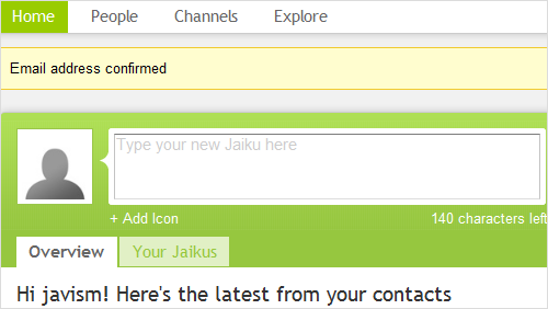 Seguir mercados con www.trackrecord.es por SMS vía Jaiku.com (i)