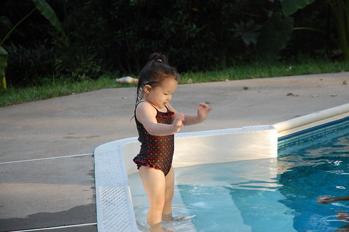 Baby in the pool