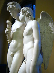 Cupid & Hymen, V&A (noriko.stardust) Tags: sculpture london statue museum albert victoria torch va victoriaandalbertmuseum romantic marble cupid hymen museumlondon georgerennie rekindlingthetorchofhymen