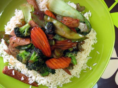Stir Fry and Steamed Rice