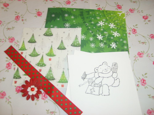 Cardmaking Kit 3/4 - Materials received by you.