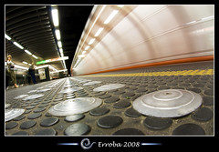 Train Arriving - Metro :: Fisheye (Erroba) Tags: brussels station metal speed train photoshop canon underground subway rebel lights neon belgium belgique metro tripod tube perspective belgi bruxelles sigma rubber fisheye tips remote knobs erlend brussel hdr cs3 10mm stib blueribbonwinner 3xp photomatix mivb tonemapped tonemapping kunstwet flickrsbest xti 400d artsloi erroba robaye erlendrobaye