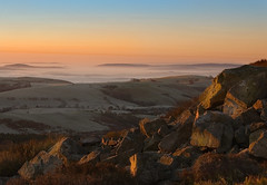 Stipers Dawn-1 (Mike Ashton) Tags: uk mist landscape dawn rocks shropshire hills stiperstone