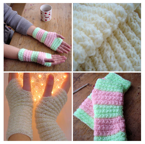 Free Crochet Patterns Hand Warmers : Free Pattern - Hand Warmers Orchidee Fiber crafts and ...