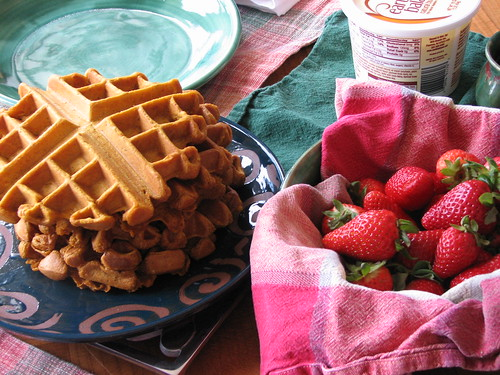 pumpkin waffles from VWAV