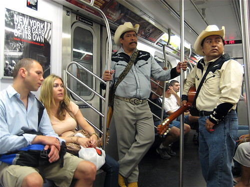 New York Takes Care of Its Own - Buskers on New York Subway