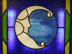 moon window (Silver Moon Creperie) Tags: stainedglass silvermoon creperie silvermooncreperie moonwindow