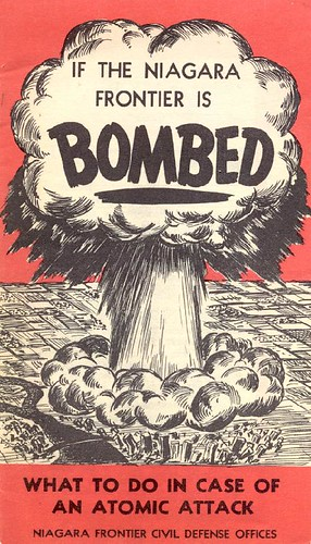 """If the Niagara Frontier Is Bombed"" - cold war pamphlet (front) by agenbyte."