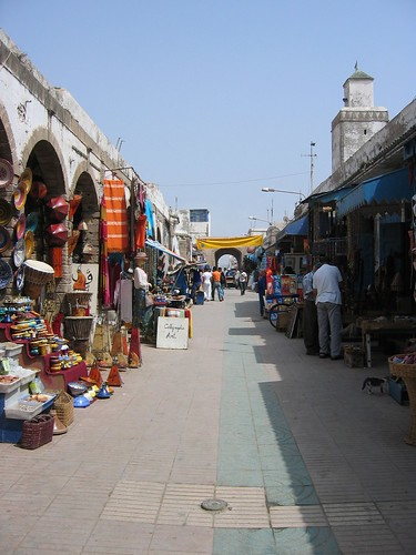 The bazaars in Morocco