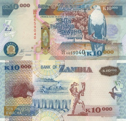 10 000 Kwacha Zambia 2008