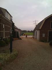 Mevrouw sweeping leaves (dawachan1) Tags: amsterdam countryside bikeride abcoude