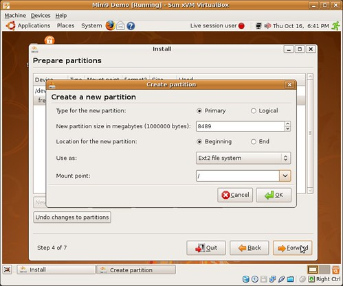 16-one-partition-setup