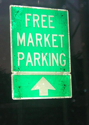 Free Market Parking Ahead