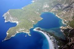 Aerial View Of The Blue Lagoon, Oludeniz, Turkey (curreyuk) Tags: turkey turquoise turkiye lagoon aerial coastline paragliding bluelagoon oludeniz gmt mugla currey totalphoto aplusphoto flickraward grahamcurrey astoundingimage worldtrekker curreyuk peachofashot