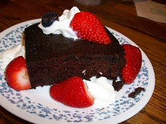 Chocolate Oil Cake with Berries (playmoby) Tags: cake berries chocolate