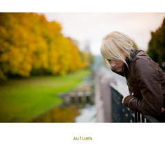 Autumn is here (Geshpanets) Tags: autumn portrait woman fall girl yellow 50mm 5d lightroom 5014 canonef50mmf14usm