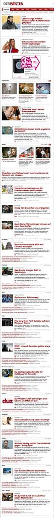 Startseite DerWesten (29.10.2008 um 16:48 Uhr) - mit dpa-Inhalten