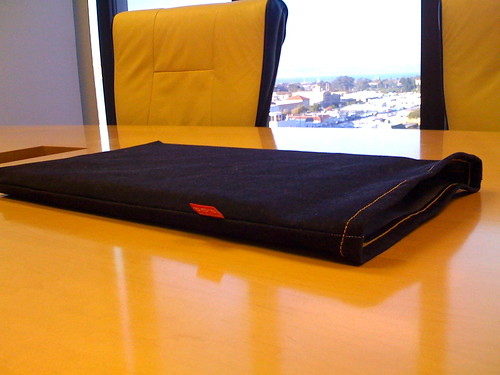laptop in the sleeve
