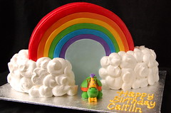 Rainbow birthday cake for Caitlin (CharmChang) Tags: cake dessert rainbow turtle birthdaycake fondant
