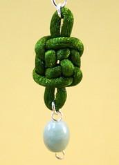 Green Well/Plafond Knot Earring w/ Jade (TranquilityKnots) Ta