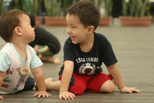 你拍攝的 湯圍溝公園:Ryan & Min的對看 1。