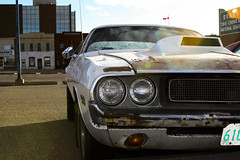 1970 Dodge Challenger (dave_7) Tags: white classic car rust rusty 70s dodge 1970 mopar 70 challenger lethbridge musclecar