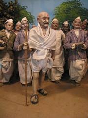 Strange diorama at Gandhi Smirti - Delhi, India