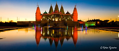 Swaminarayan Temple, Houston - TX (E-X-P-L-O-R-E-D) (r a r a r a j | fotography) Tags: blue light sunset orange reflection colors festival night catchycolors temple lights purple fireworks houston celebrations diwali hindu halloweendecorations barsanadham swaminarayan flickrcolor goodtobealive colourartaward top20texas damniwishidtakenthat