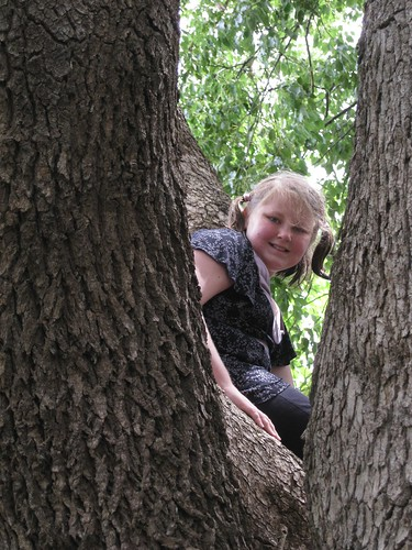 Amy in tree
