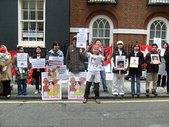 S7301403 (FREE BURMA2008) Tags: london for embassy demonstration jail years leaders 88 receive burmese generation 65 terms