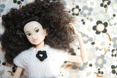 Too Much Sunlight! (Girl Least Likely To) Tags: fashion toys japanese blackwhite dolls vinyl etsy irina ccs whitelion momoko petworks asiandolls closeclippedsheep feltland sunnylingerie handmadeknitdress