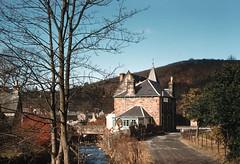 Birnam (1958) (The Douglas Campbell Show) Tags: road uk bridge building tree scotland town perth birnam