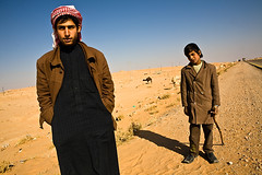 Camel herders in the desert (yanseiler) Tags: travel canon fire foot al desert soccer middleeast evil east camel syria middle palmyra axis aleppo assad syrie herder alep