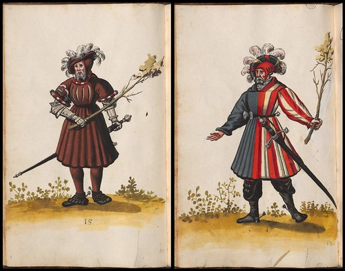 court costumes of 16th century Bavaria