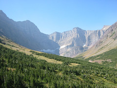 crackerlake-headwall (Swiftcurrent, Montana, United States) Photo