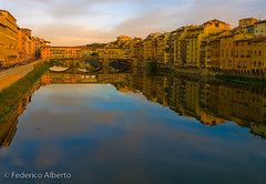 Flipped (Federico Alberto) Tags: bridge sunset sky italy reflection water clouds ro buildings river puente atardecer florence twilight edificios agua eau italia afternoon olympus rivire ciel cielo nubes reflejo florencia pont firenze arne puestadesol e3 arno nophotoshop soire nuages crpuscule italie tarde goldenhour pontevecchio crepsculo ribera cubism oldbridge batiments nohdr vieuxpont abigfave platinumphoto 1260mm horadorada theunforgettablepictures betterthangood olympuse3 zd1260mmswd flickrlovers heuredore