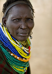 Nyangatom woman Ethiopia (Eric Lafforgue) Tags: woman artistic tribal ornament bodypainting tribe rite colliers tribo necklaces adornment pigments tribu omo eastafrica thiopien etiopia ethiopie etiopa lafforgue  etiopija ethiopi  etiopien 4981 etipia  etiyopya  nomadicpeople nyangatom         bienvenuedansmatribu peoplesoftheomovalley