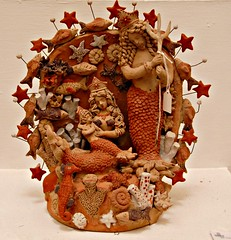 Mermaid Nativity Mexico (Teyacapan) Tags: christmas fish mexico navidad ceramics artesanias scene clay oaxaca museo mermaid museums nativity nacimiento barro sirena palacio atzompa