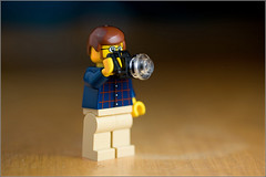 Say Cheese (andrewwdavies) Tags: camera man fun toy photographer dof lego depthoffield have nostalgia wireless remote shallow diffuser fiend canonefs60mmf28usmmacro triggers pocketwizards aweek canoneos40d canonspeedlite580exii andrewwilliamdavies diffusionmaterial
