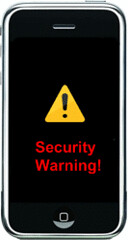 iphone security warning