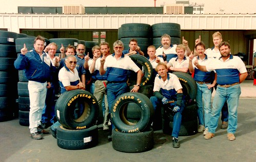 The Goodyear Racing Tire Crew:  Nascar Photography By Darryl Moran