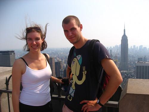 En haut de la Rockfeller Tower