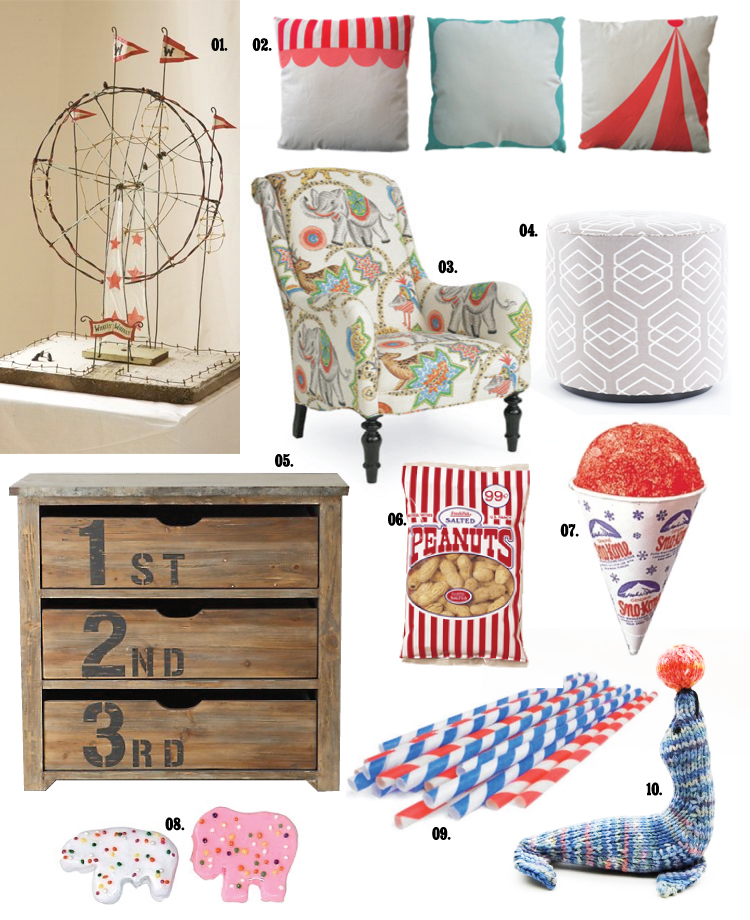 Circus Inspired Housewares