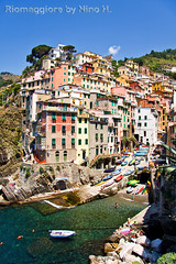 Riomaggiore - Cinque Terre (Nino H) Tags: world houses sea sky italy seascape heritage colors rock coast mar italia village five unesco cielo terre lands terra italie cinque riomaggiore protected gettyimagesitalyq1