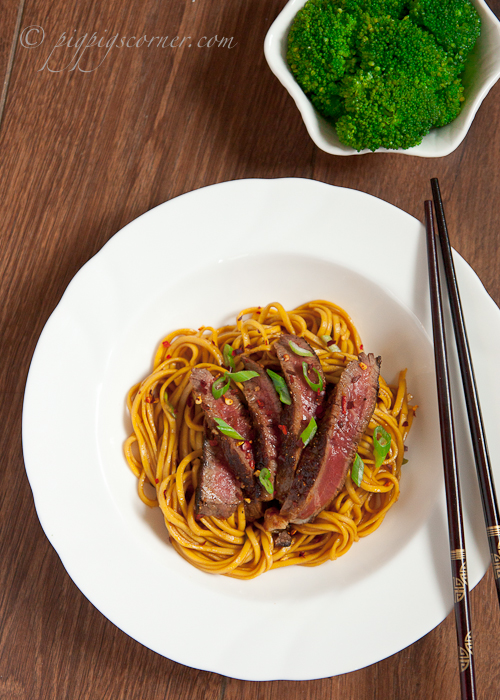 Thai-Style Grilled Beef with Noodles