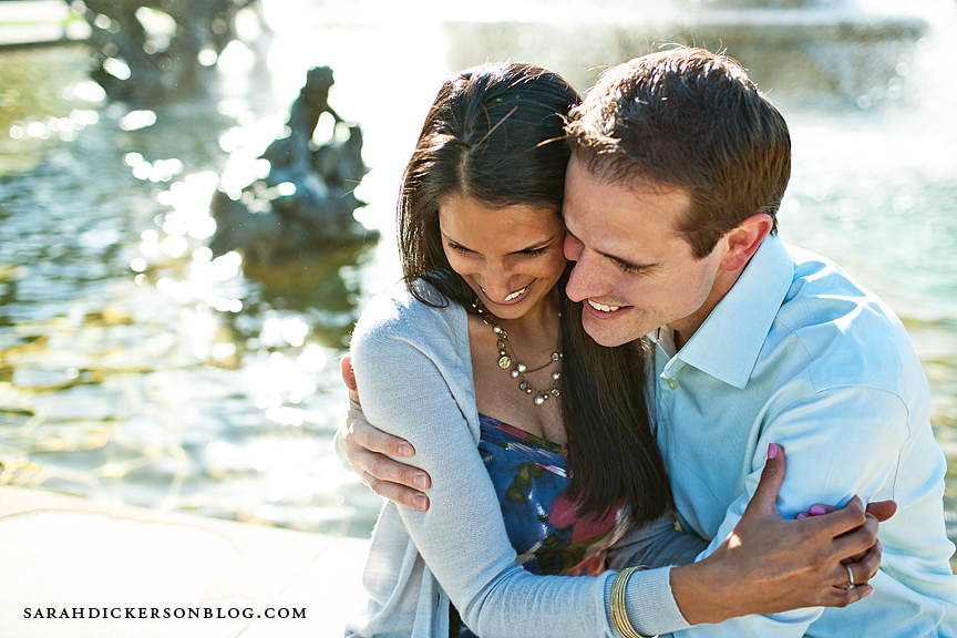 Kansas City Country Club Plaza engagement photographers